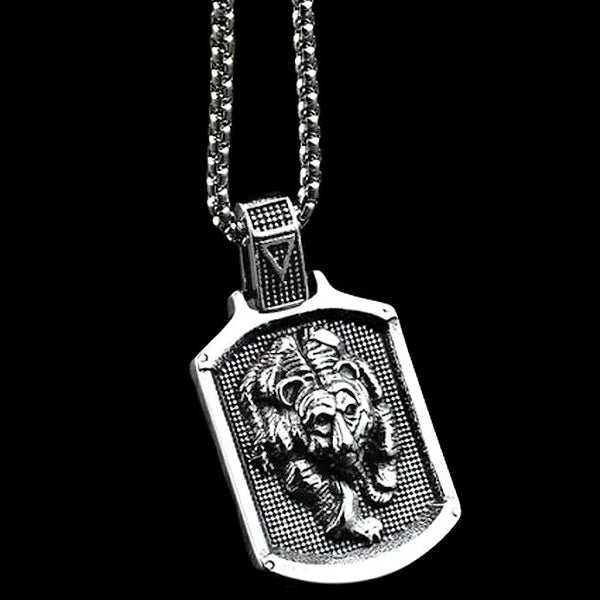 Classy Men Bear Pendant Necklace