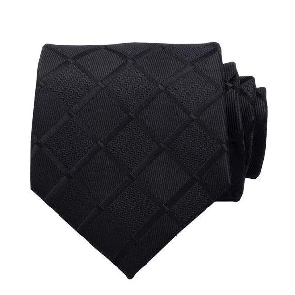 Classy Men Black Carbon Silk Necktie - Classy Men Collection