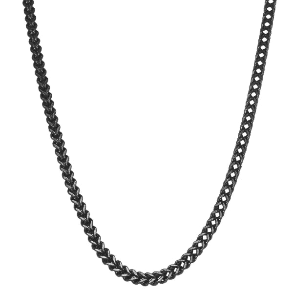 Classy Men 4mm Black Franco Chain Necklace
