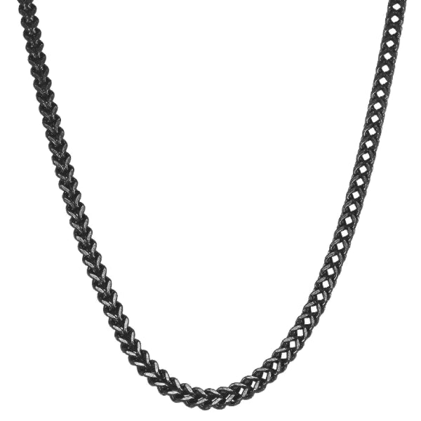 Classy Men 6mm Black Franco Chain Necklace