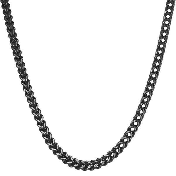 Classy Men 8mm Black Franco Chain Necklace