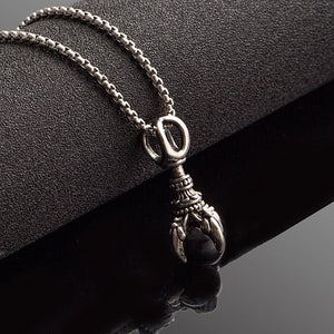 Classy Men Black Oracle Pendant Necklace