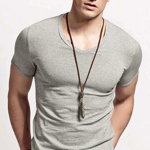 Classy Men Bronze Leather Feather Pendant Necklace