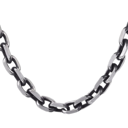 Classy Men 6mm Antique Cable Chain Necklace