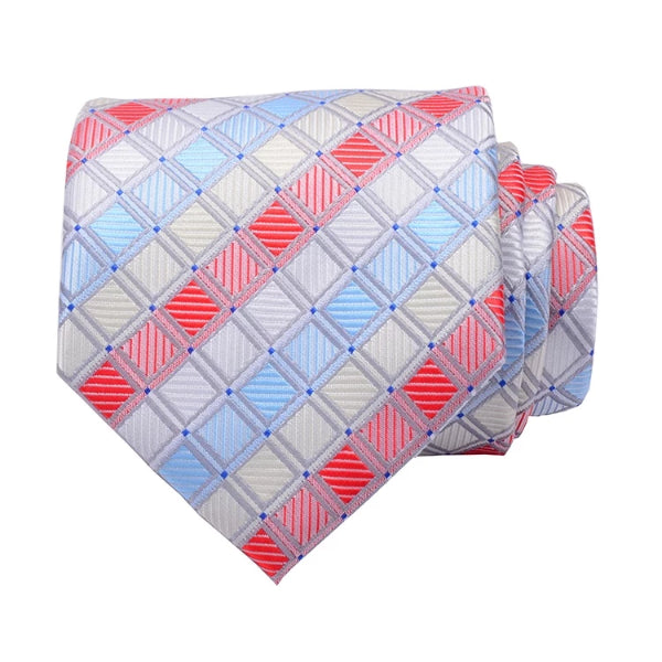 Classy Men Color Checkered Silk Necktie - Classy Men Collection
