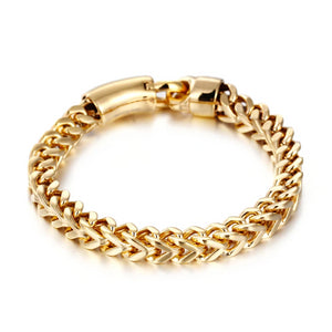 Classy Men 8mm Gold Lobster Chain Bracelet