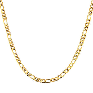 Classy Men 7.5mm Gold Figaro Chain Necklace