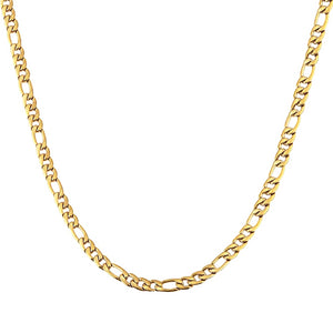 Classy Men 4.5mm Gold Figaro Chain Necklace