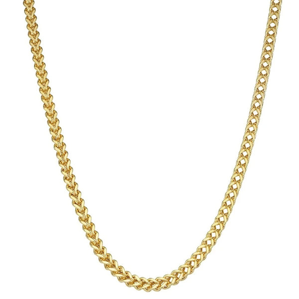 Classy Men 4mm Gold Franco Chain Necklace