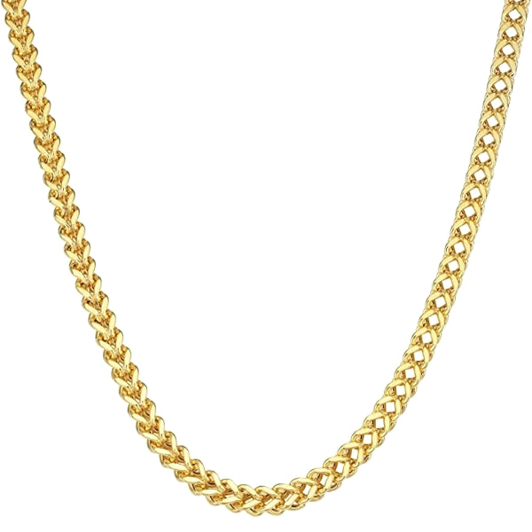 Classy Men 8mm Gold Franco Chain Necklace