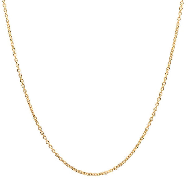 Classy Men 1.6mm Gold Rolo Chain Necklace