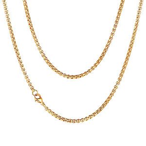 Classy Men 2mm Gold Box Chain Necklace