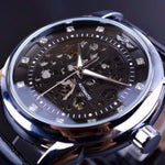Classy Men Watch Royal Black/Silver - Classy Men Collection