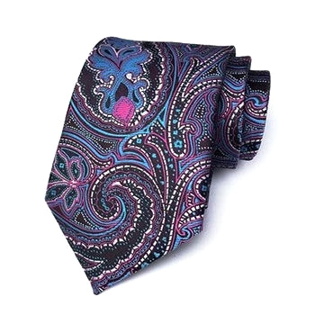 Classy Men Formal Mysterious Paisley Silk Necktie