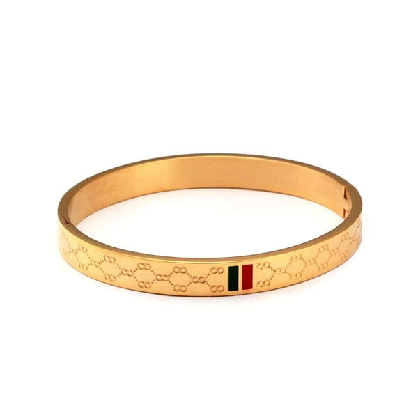 Classy Men 8mm Gold Luxury Bangle Bracelet