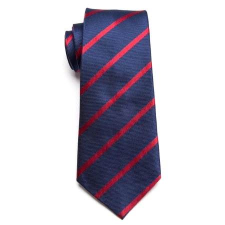 Classy Men Classic Blue Red Striped Necktie