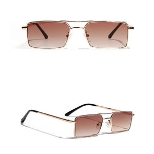 Classy Men Wide Gradient Square Sunglasses