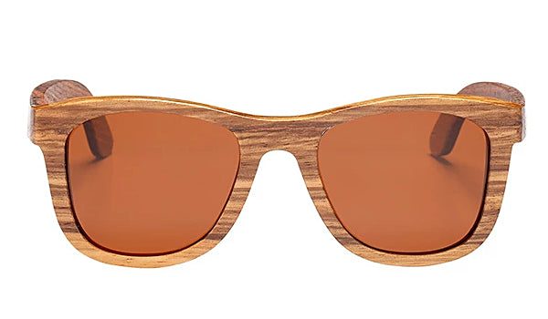 Classy Men Brown Polarized Bamboo Wood Sunglasses - Classy Men Collection