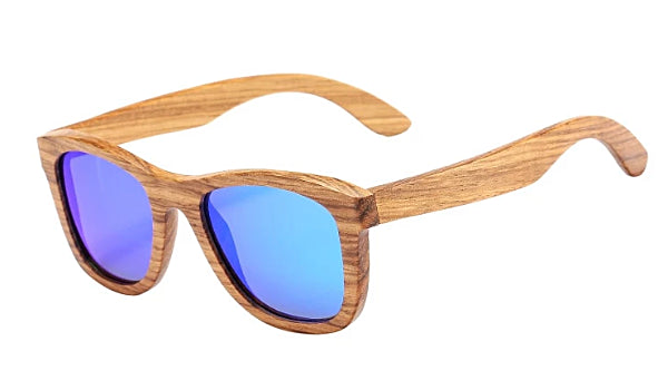 Classy Men Blue Polarized Bamboo Wood Sunglasses - Classy Men Collection