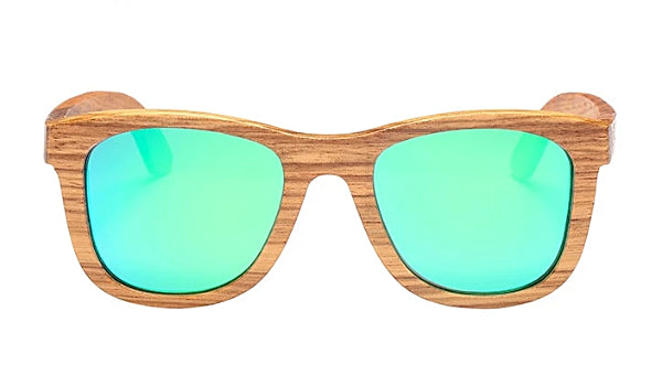 Classy Men Green Polarized Bamboo Wood Sunglasses - Classy Men Collection