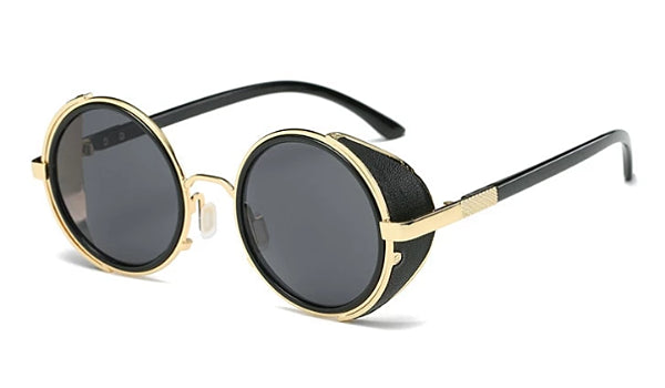 Classy Men Black & Gold Retro Side Shield Sunglasses - Classy Men Collection