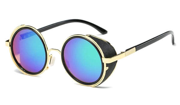 Classy Men Blue Retro Side Shield Sunglasses - Classy Men Collection