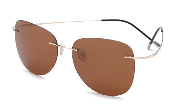 Classy Men Brown Lightweight Aviator Sunglasses - Classy Men Collection
