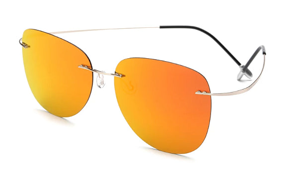 Classy Men Orange Lightweight Aviator Sunglasses