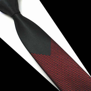 Classy Men Red Luxury Silk Narrow Tie