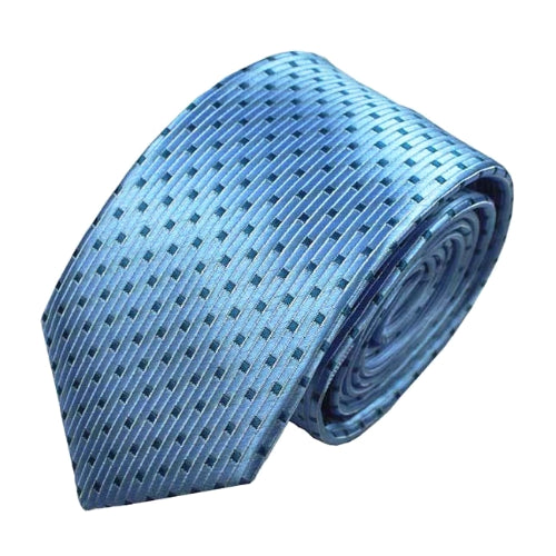 Classy Men Blue Dotted Luxury Silk Narrow Tie - Classy Men Collection