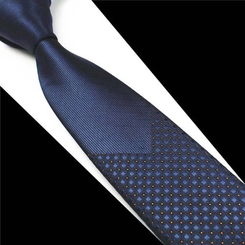 Classy Men Blue Mini Dot Luxury Silk Narrow Tie - Classy Men Collection