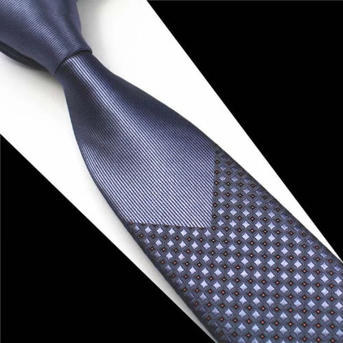 Classy Men Grey Mini Dot Luxury Silk Narrow Tie