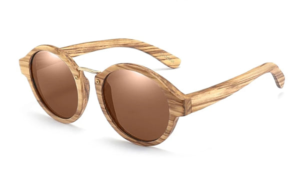 Classy Men Brown Handmade Zebrawood Sunglasses - Classy Men Collection