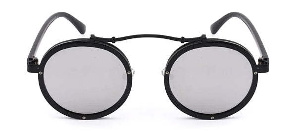 Classy Men Black & Silver Retro Round Sunglasses - Classy Men Collection