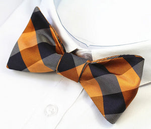 Classy Men Traditional Silk Self-Tie Bow Tie