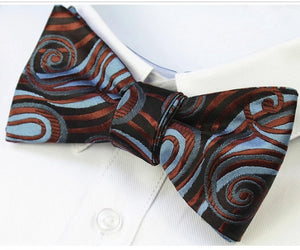 Classy Men Black Smooth Silk Self-Tie Bow Tie - Classy Men Collection