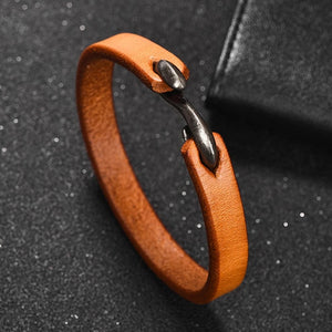 Classy Men Brown Vintage Leather Bracelet - Classy Men Collection