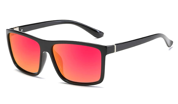 Classy Men Red Square Sunglasses