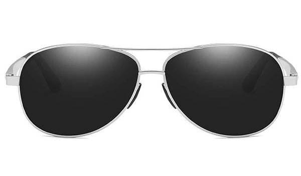 Classy Men Black Polarized Pilot Sunglasses - Classy Men Collection