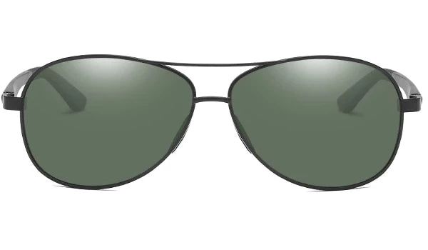 Classy Men Green Polarized Pilot Sunglasses - Classy Men Collection
