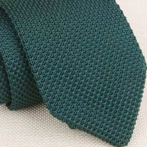 Classy Men Solid Jade Green Knitted Tie