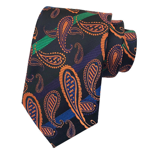 Classy Men Colorful Paisley Silk Tie - Classy Men Collection