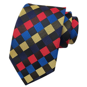 Classy Men Colorful Checked Silk Tie - Classy Men Collection