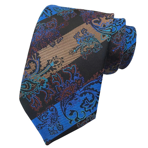 Classy Men Striped Brocade Silk Tie