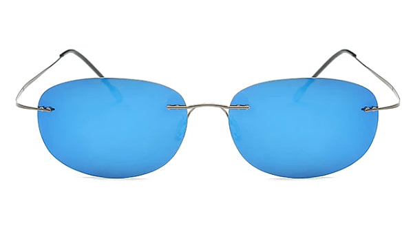 Classy Men Blue Lightweight Oval Sunglasses - Classy Men Collection