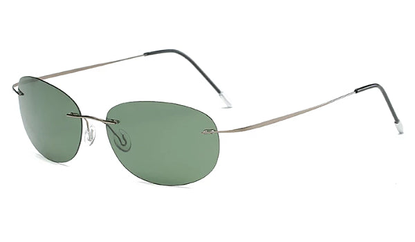 Classy Men Green Lightweight Oval Sunglasses - Classy Men Collection