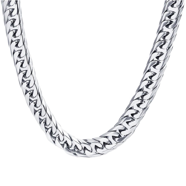 Classy Men 8mm Stainless Steel Link Chain Necklace