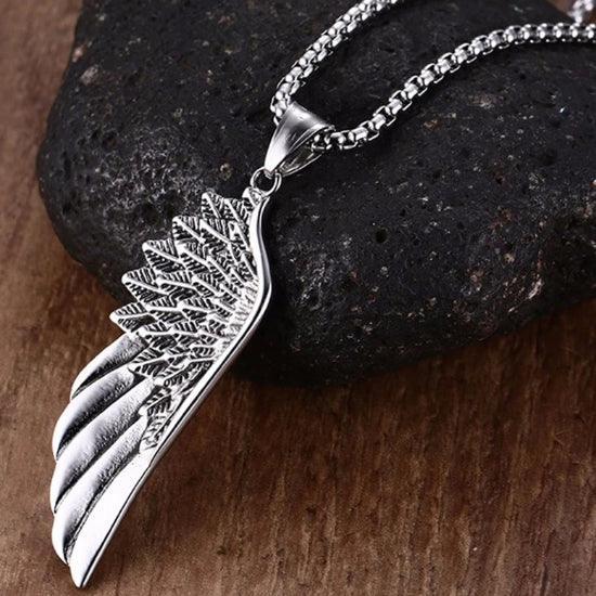 Classy Men Angel Wing Pendant Necklace