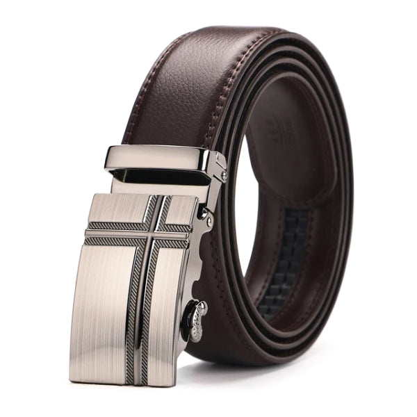 Classy Men Brown Leather Suit Belt