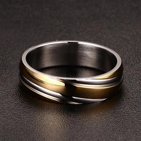 Classy Men Gold Stainless Steel Ring - Classy Men Collection